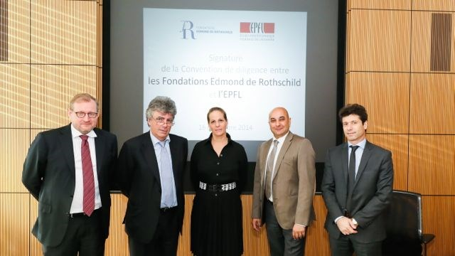 The Edmond de Rothschild Foundations and EPFL concluded a partnership
