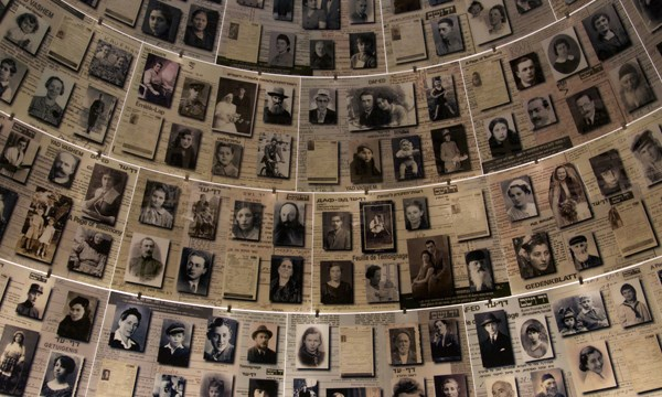 The Hall of Names at Yad Vashem