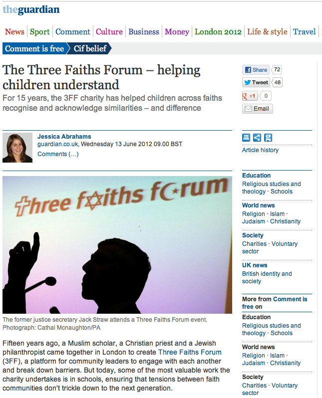 The Three Faiths Forum – Helping children understand